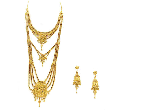 103.10g 22Kt Gold Haar Necklace Set - 2348