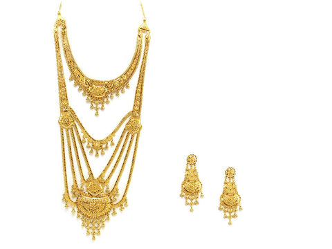 101.65g 22Kt Gold Haar Necklace Set - 2349