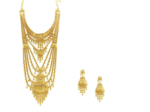 119.10g 22Kt Gold Haar Necklace Set - 2350