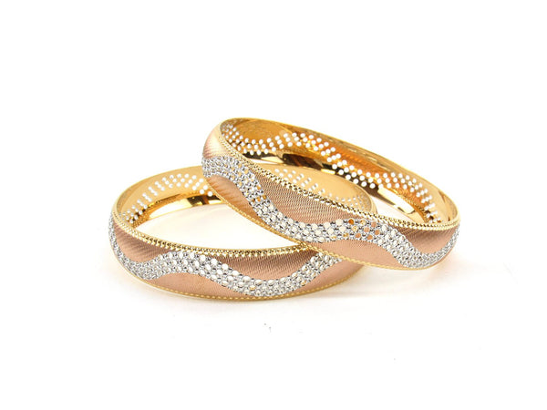 56.6g 22Kt Gold Bangle Set (Sz: 6) - 2353
