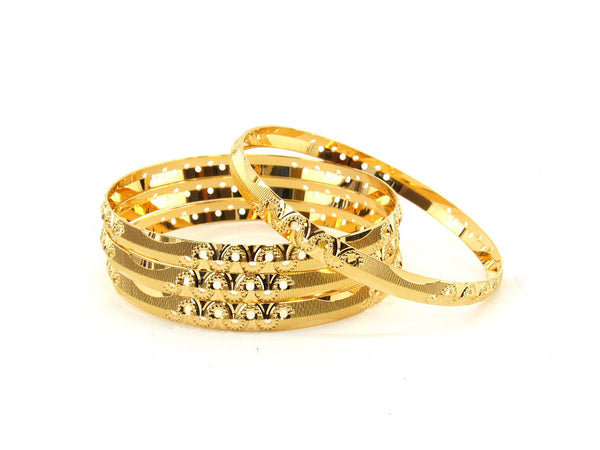 49.8g 22Kt Gold Bangle Set (Sz: 4) - 2355