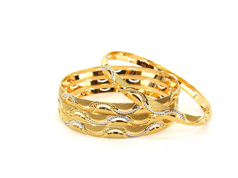 50.3g 22Kt Gold Bangle Set (Sz: 6) - 2357