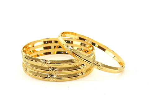 50.3g 22Kt Gold Bangle Set (Sz: 6) - 2359