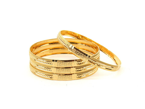50.4g 22Kt Gold Bangle Set (Sz: 6) - 2360