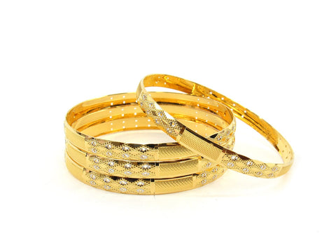 50.9g 22Kt Gold Bangle Set (Sz: 6) - 2362