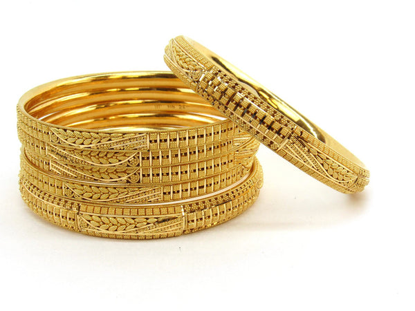 94.5g 22Kt Gold Bangle Set (Sz: 6) - 2378
