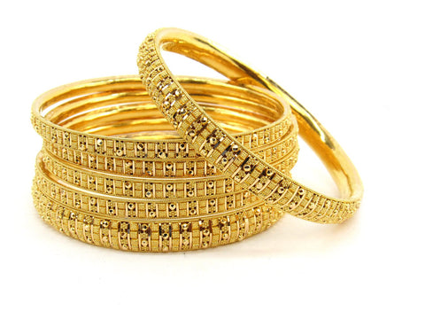 92.75g 22Kt Gold Bangle Set (Sz: 8) - 2379