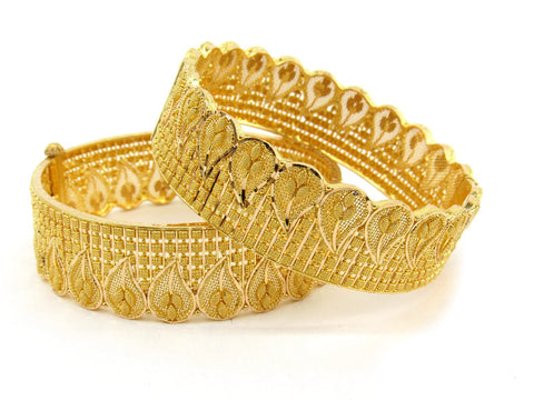 68g 22Kt Gold Bangle Set (Sz: 5) - 2381