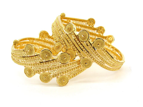 53.1g 22Kt Gold Bangle Set (Sz: 5) - 2382