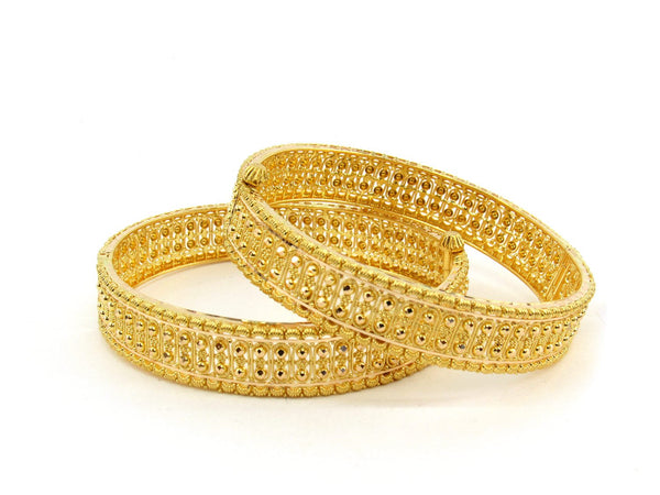 39.4g 22Kt Gold Bangle Set (Sz: 5) - 2384
