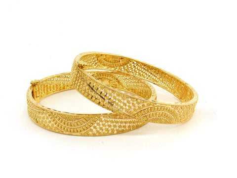 42.5g 22Kt Gold Bangle Set (Sz: 5) - 2385