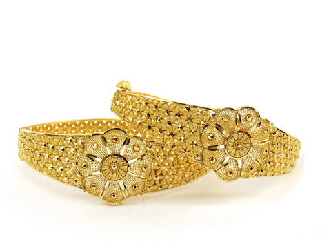37.5g 22Kt Gold Bangle Set (Sz: 5) - 2387