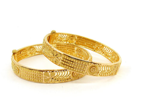 40.9g 22Kt Gold Bangle Set (Sz: 5) - 2388