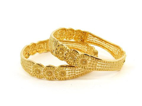 40.8g 22Kt Gold Bangle Set (Sz: 5) - 2389