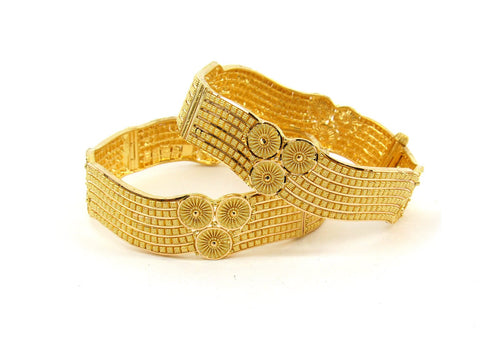 51.4g 22Kt Gold Bangle Set (Sz: 5) - 2390