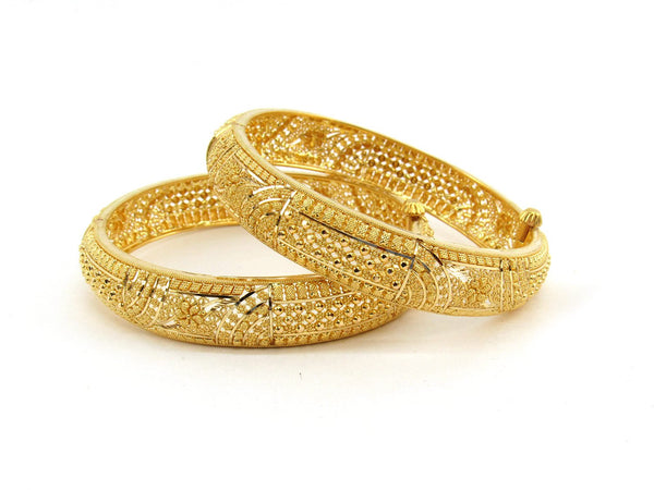 50.6g 22Kt Gold Bangle Set (Sz: 5) - 2391