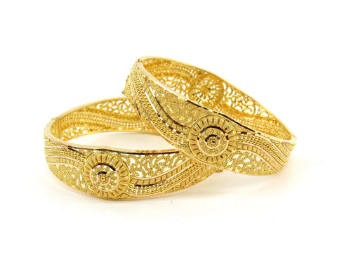 53.8g 22Kt Gold Bangle Set (Sz: 5) - 2392