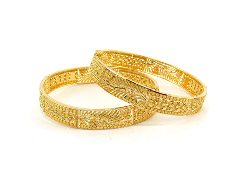 39.8g 22Kt Gold Bangle Set (Sz: 5) - 2393