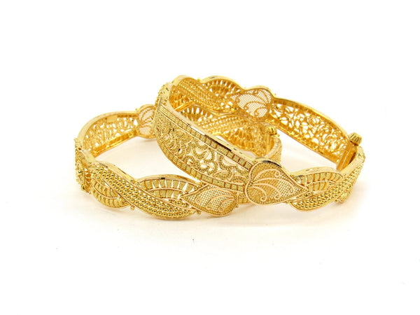 45.6g 22Kt Gold Bangle Set (Sz: 5) - 2394