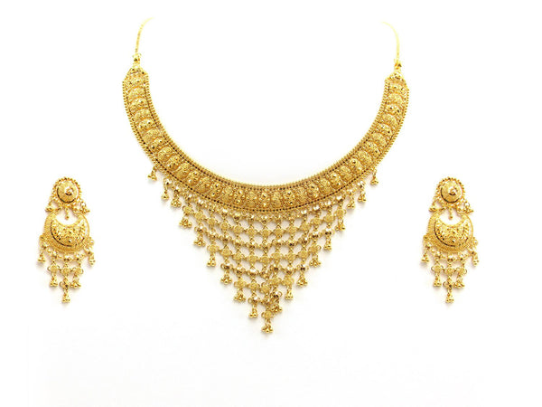 61.00g 22Kt Gold Yellow Necklace Set 2396