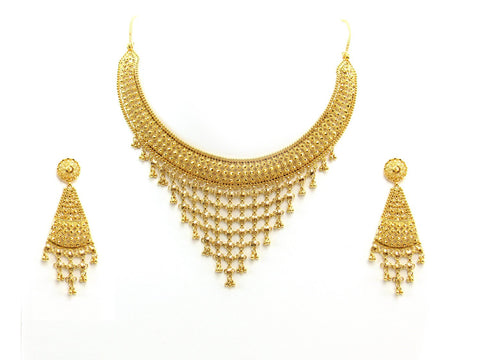 64.20g 22Kt Gold Yellow Necklace Set 2397