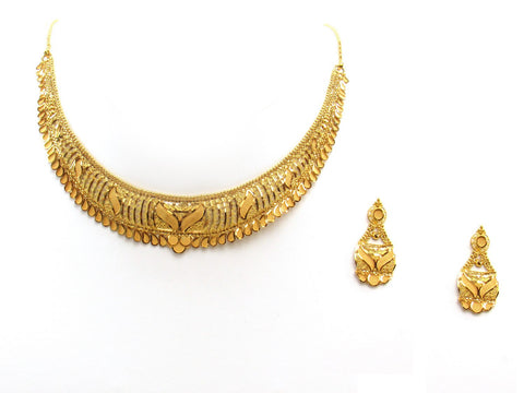 33.70g 22Kt Gold Yellow Necklace Set 2398