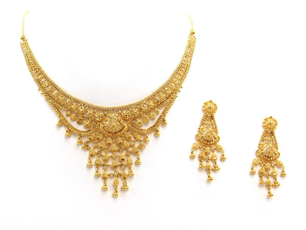 43.90g 22Kt Gold Yellow Necklace Set 2399