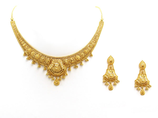 35.80g 22Kt Gold Yellow Necklace Set 2400