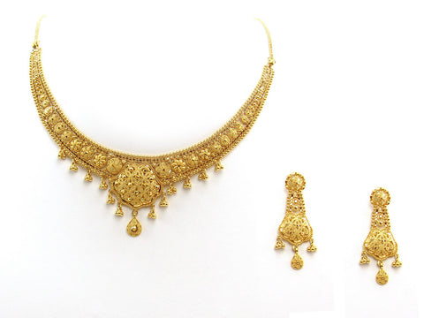 34.70g 22Kt Gold Yellow Necklace Set 2401