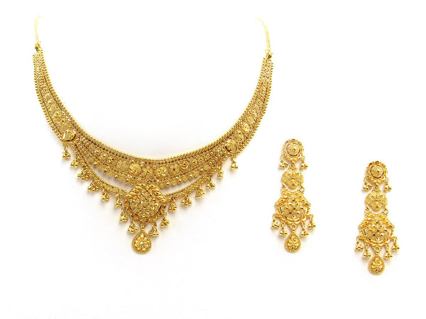 41.30g 22Kt Gold Yellow Necklace Set 2402