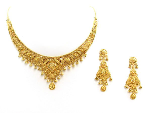 42.90g 22Kt Gold Yellow Necklace Set 2403