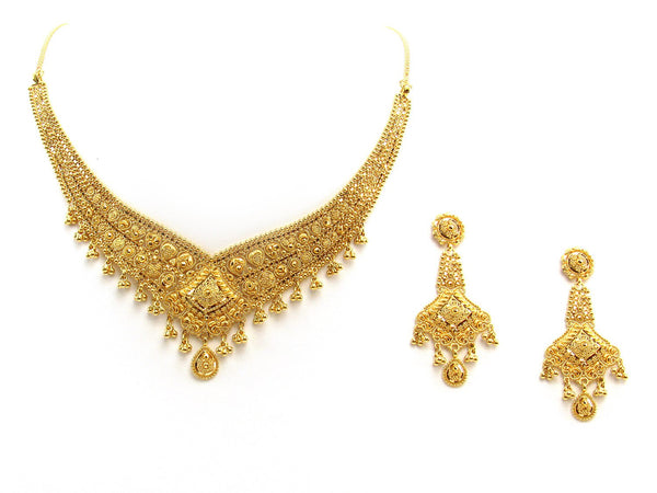 42.20g 22Kt Gold Yellow Necklace Set 2404