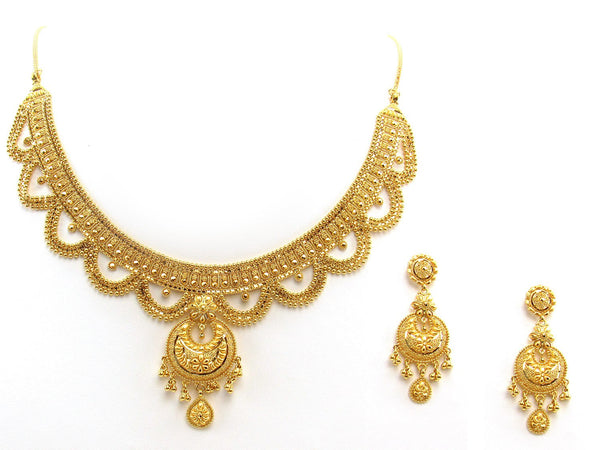 50.80g 22Kt Gold Yellow Necklace Set 2405