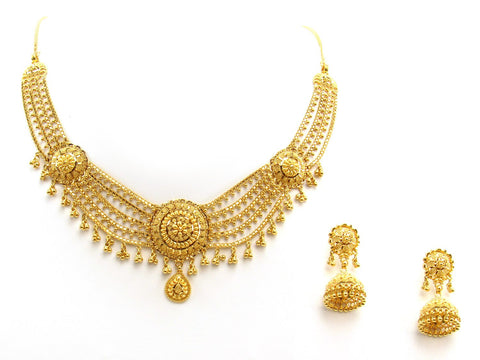 47.80g 22Kt Gold Yellow Necklace Set 2406