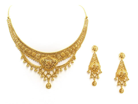 43.40g 22Kt Gold Yellow Necklace Set 2408