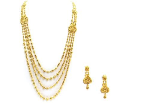 79.10g 22Kt Gold Yellow Necklace Set 2410