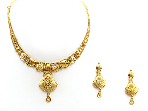 25.00g 22Kt Gold Yellow Necklace Set 2411