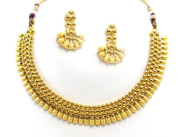26.16g 22Kt Gold Yellow Necklace Set 2414