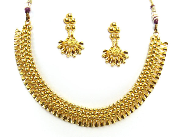 28.26g 22Kt Gold Yellow Necklace Set 2415