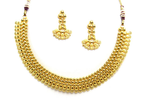 25.69g 22Kt Gold Yellow Necklace Set 2416