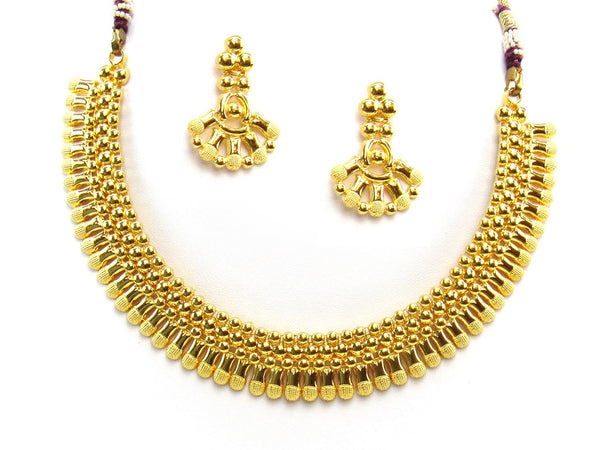 26.98g 22Kt Gold Yellow Necklace Set 2417