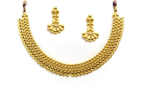 25.45g 22Kt Gold Yellow Necklace Set 2418