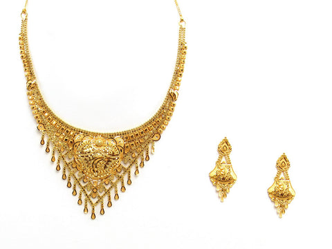 31.01g 22Kt Gold Yellow Necklace Set 2420