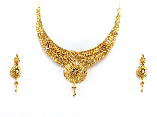 43.60g 22Kt Gold Yellow Necklace Set 2423