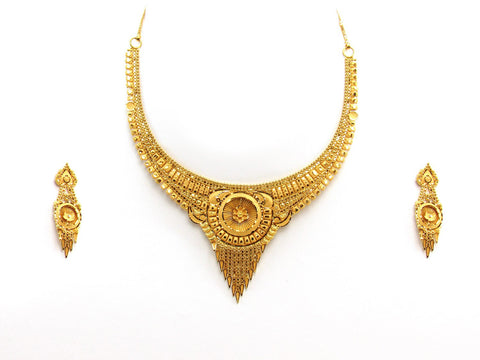 27.37g 22Kt Gold Yellow Necklace Set 2424