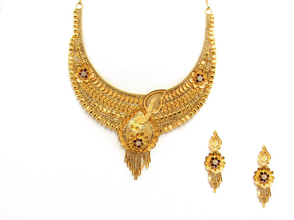44.52g 22Kt Gold Yellow Necklace Set 2425