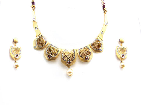 35.10g 22Kt Gold Yellow Necklace Set 2426