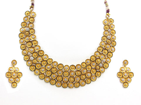 79.00g 22Kt Gold Yellow Necklace Set 2428