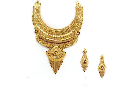 89.15g 22Kt Gold Yellow Necklace Set 2429