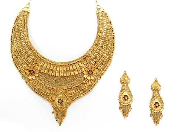 99.48g 22Kt Gold Yellow Necklace Set 2430